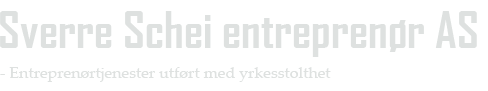 Logo - Sverre Schei Entreprenør AS